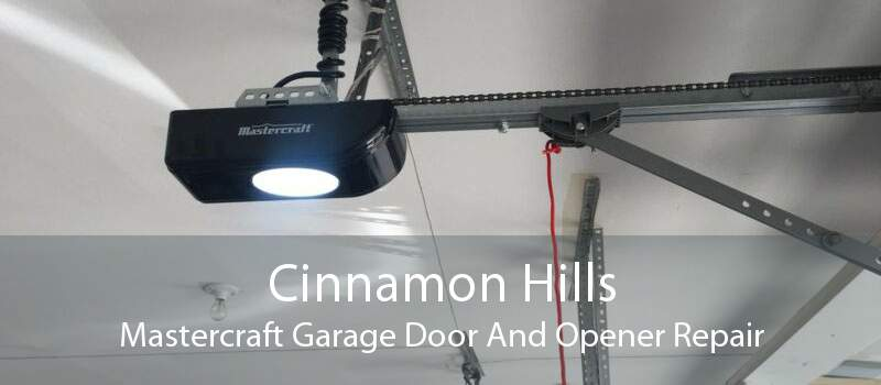 Cinnamon Hills Mastercraft Garage Door And Opener Repair