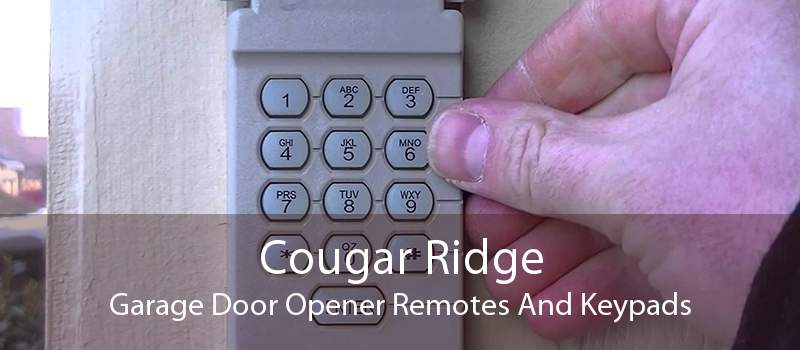 Cougar Ridge Garage Door Opener Remotes And Keypads