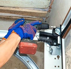garage door track repair in Chestermere